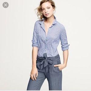 Like new J. Crew perfect shirt in suckered gingham